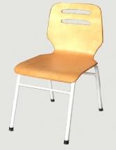Ghế dựa chân sắt - mặt & tựa bằng ván ép uốn cong