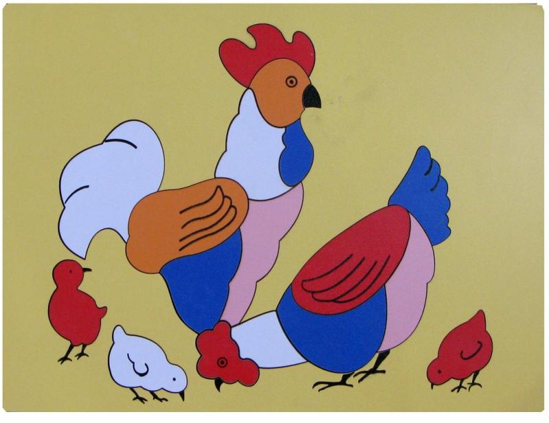 Tranh ghép đàn gà