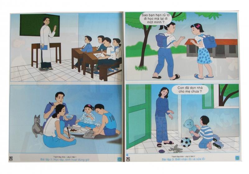 tranh đạo đức Lớp 2